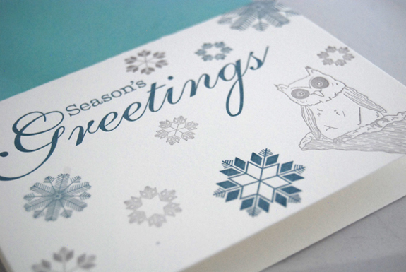 holiday letterpress